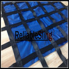 ประเทศจีน Vehicle Cargo Net Lifting Sling For Packing / 25mm~50mm Cargo Webbing Net โรงงาน
