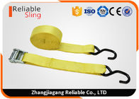"1.5"" Muticolor Zinc Alloy Cam Buckle Tie Down Strap with S hooks , Ratcheting Cargo Straps"