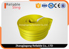 ประเทศจีน WLL 3 Ton Yellow Flat Woven Webbing Tape , 75mm Anti - Wear Lifting Webbing โรงงาน