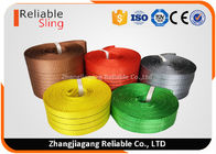 ประเทศจีน Light weight Color Coded Polyester Cargo Webbing , 25mm-300mm Flat Webbing โรงงาน