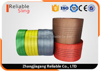 ประเทศจีน Single Ply Synthetic Woven Polyester Sling Webbing Straps Colorful Flat  Industrial Webbing โรงงาน