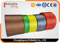 ประเทศจีน 2 Ton Flat Polyester Webbing Textile Sling Webbing Eco Friendly and Coloration โรงงาน