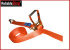 50mm Width Heavy Duty Cargo Straps Ratchet Lashing Belt with 4 Ton B.S.