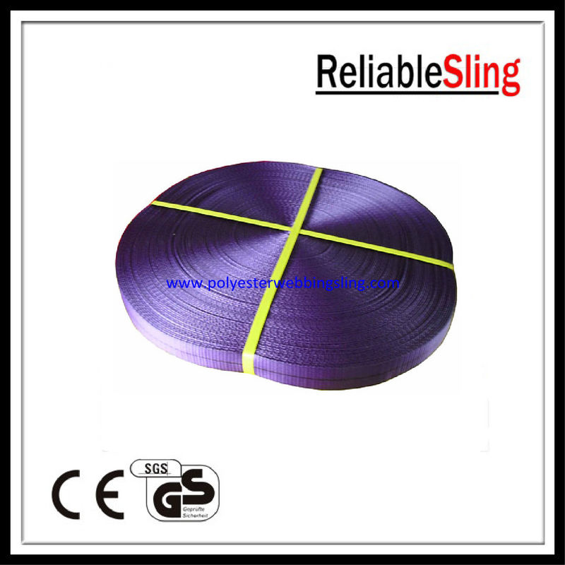 High Strength Anti - wear 1ton Flat Polyester Webbing for industrial