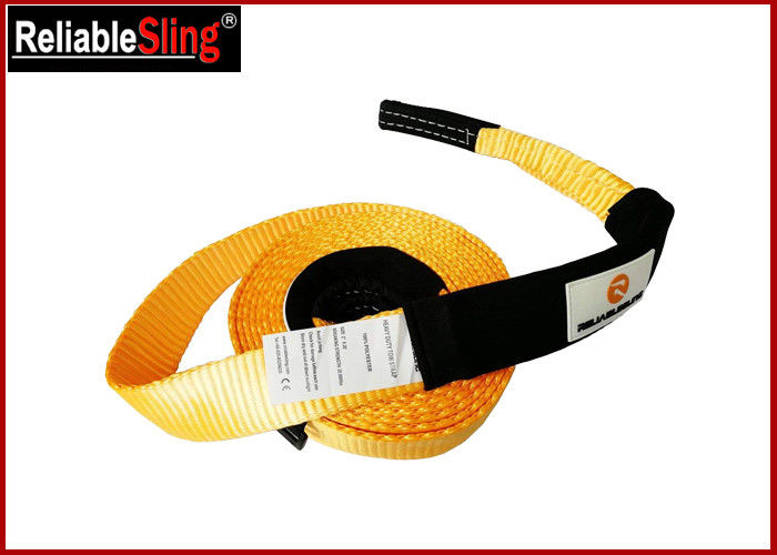 "Single - ply 2"" polyester Loop racing car tow strap Orange - 20,000 lbs Capacity"
