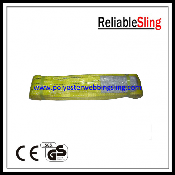 Durable PES Flat Webbing Sling for Lifting , industrial eye to eye sling