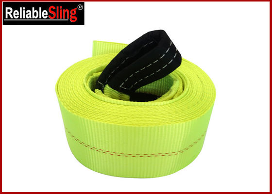 High Tenacity Industrial Polyester Yarn Heavy Duty Tow Straps Car Recovery Straps With Hooks
